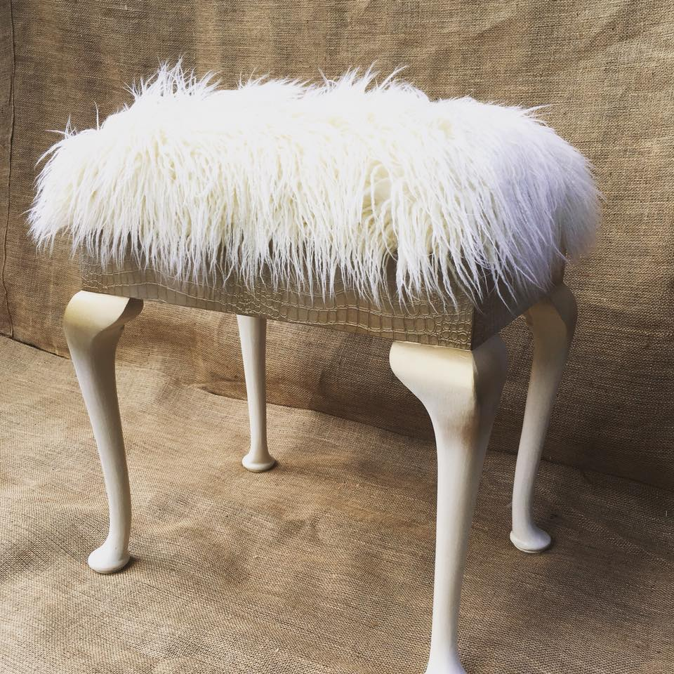 ReVamp Boutique Furniture 6 SOLD Powder Puff Piano Stool